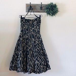 Anthro Girls From Savoy Black Midi Halter Dress 2